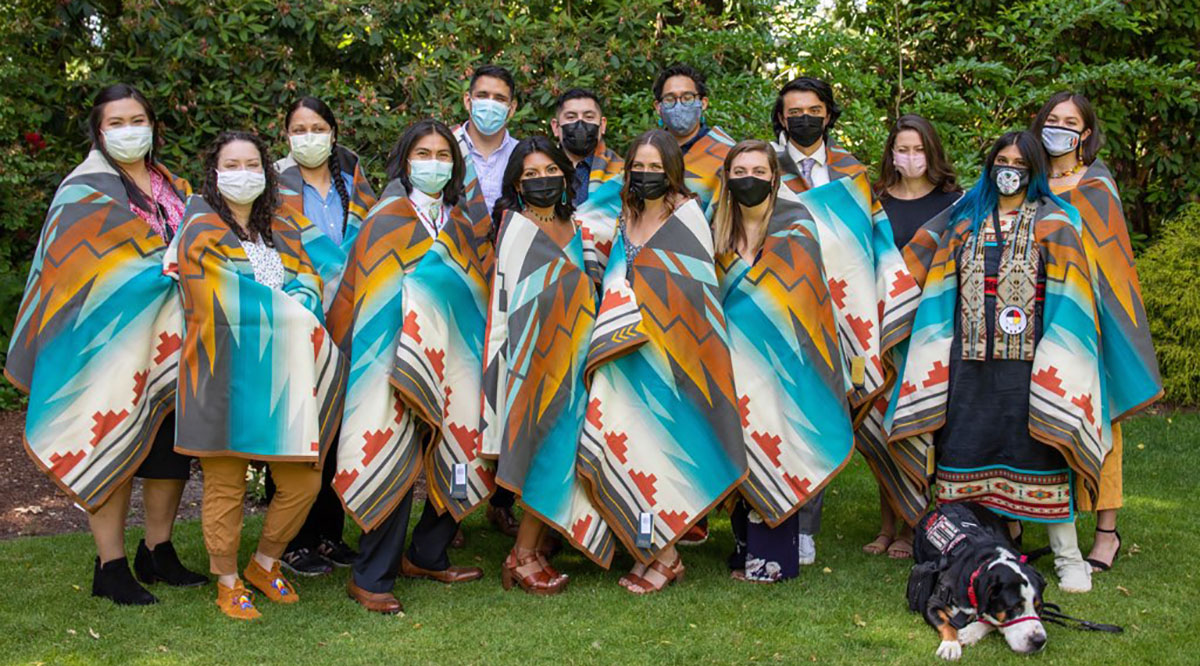 A blanketing ceremony in Portland, Oregon, closed out the 2020-2021 Wy'east Postbaccalaureate Pathway program for American Indian and Alaska Native students headed to medical school.