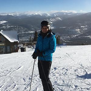 Sunita Sharma at a ski slope
