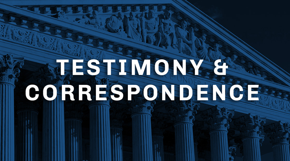 testimony and correspondence graphic