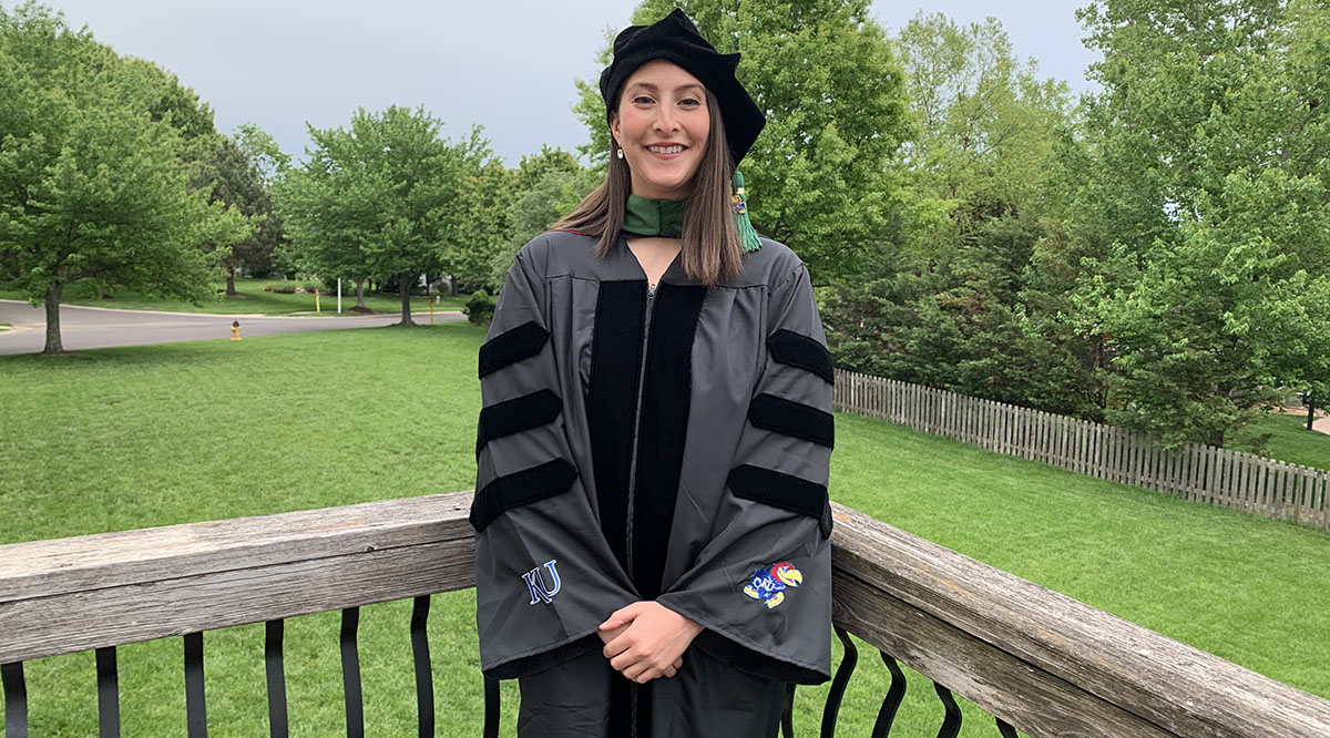 On Saturday, May 16, Jourdaen Sanchez will join her classmates from the University of Kansas School of Medicine on a Zoom call to celebrate their accomplishments