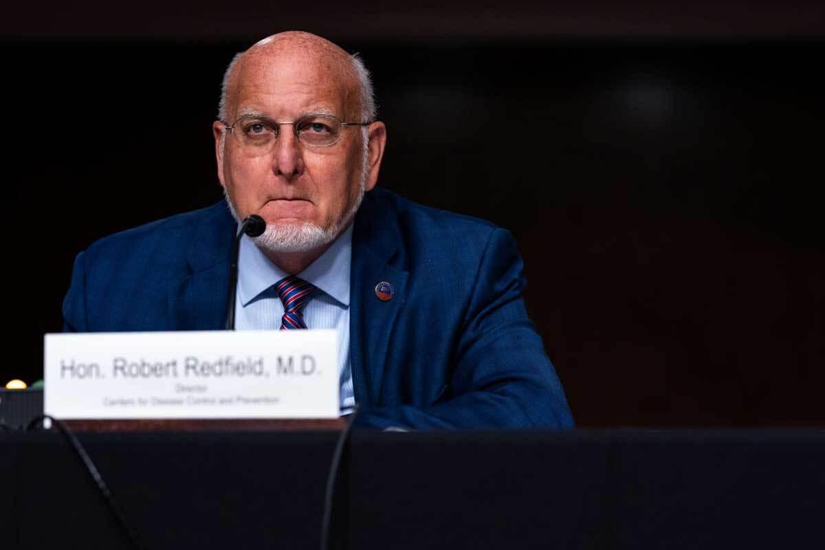 CDC Director Robert R. Redfield testifies before a Senate Appropriations subcommittee reviewing coronavirus response efforts.