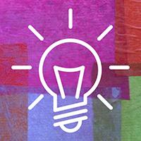 Illustration of a lit up lightbulb