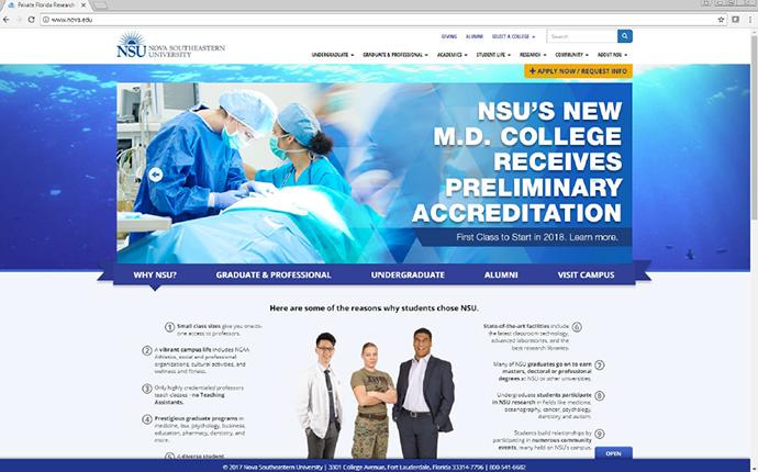 electronic comm - websites - nsu md