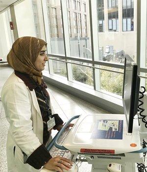 Altaf Saadi on computer