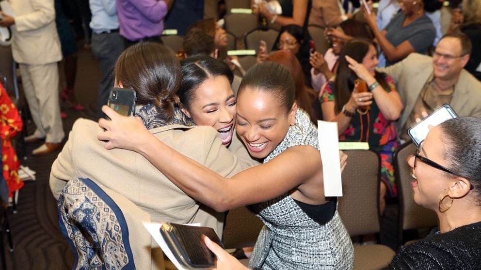 medical students celebrating at Meharry Medical College School of Medicine
