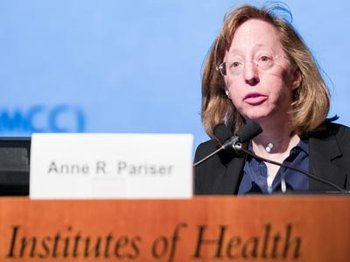 Anne Pariser, MD, deputy director of the Office of Rare Diseases Research at NIH, spoke at the 2017 Rare Disease Day event at NIH in February.