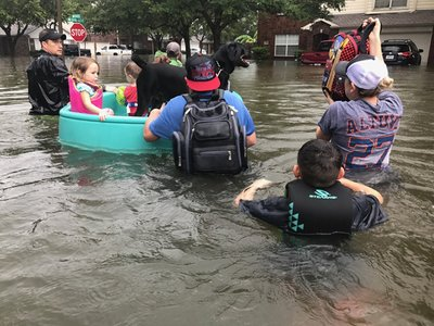 Pediatricians from Baylor College of Medicine helped with rescue efforts after Hurricane Harvey.