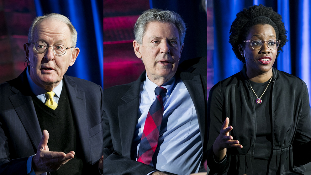 From left to right: Sen. Lamar Alexander (R-TN), Rep. Frank Pallone (D-NJ), and Rep. Lauren Underwood (D-IL).