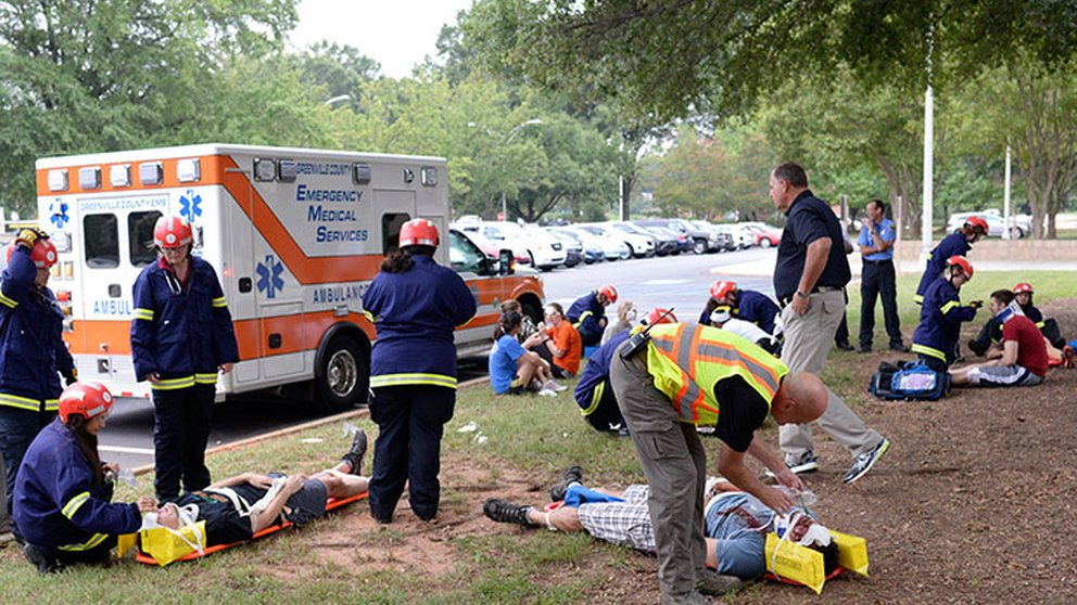 EMT training at University of South Carolina School of Medicine Greenville