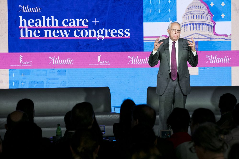 AAMC President and CEO Darrell G. Kirch, MD, delivers remarks on the role of academic medicine in the U.S. health care system. Credit: Kristoffer Tripplaar.