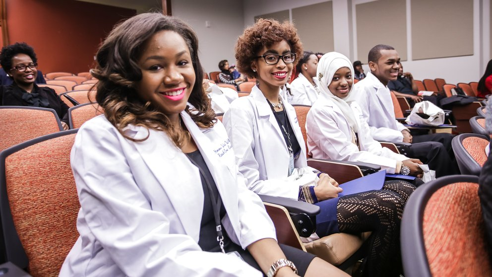 Students in the Morehouse School of Medicine Reach One Each One (ROEO) program.