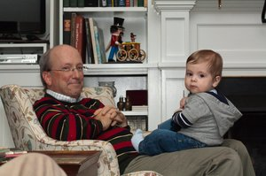 Dr. McKinney with his grandson.