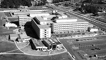 The San Fernando Veterans Administration Hospital complex in 1971.