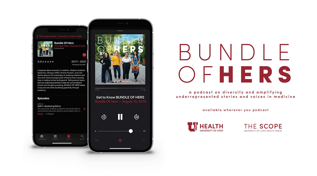 Bundle of Hers: a podcast on diversity and amplifying underrepresented stories and voices in medicine. It is available wherever you listen to podcast.