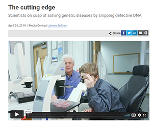 The cutting edge - Scientists on cusp of genetic diseases by snipping defective DNA