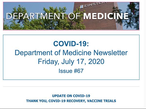 Department of Medicine COVID-19 Daily Update Albert Einstein College of Medicine Montefiore Health System