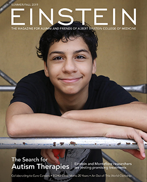 """""""The Search for Autism Therapies"""" cover story in Einstein magazine"""