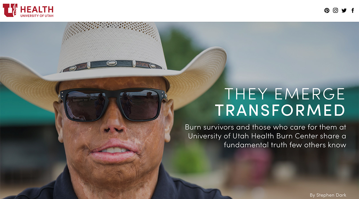 Daniel Pavon, burn survivor, featured in They Emerge Transformed - Burn survivors and those who care for them at University of Utah Health Burn Center share a fundamental truth few others know