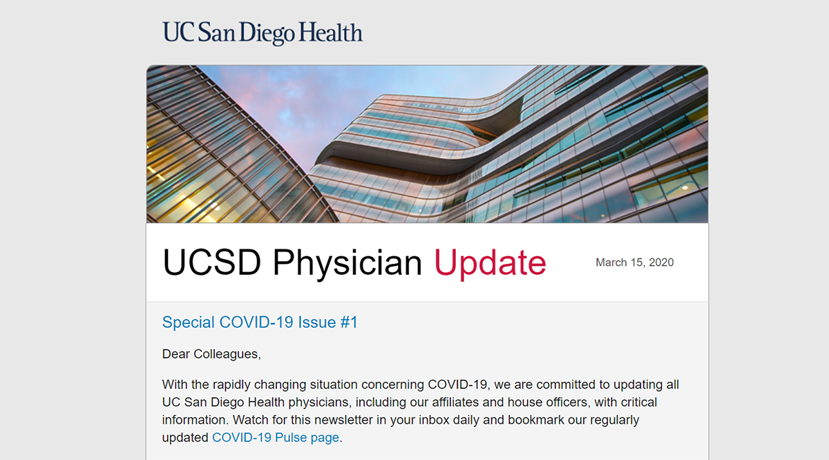 UC San Diego Health Physician Update