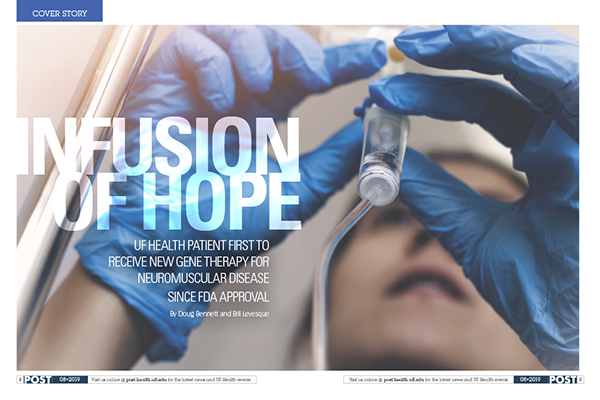 Infusion of Hope UF Health patient first to receive new gene therapy for neuromuscular disease since FDA approval