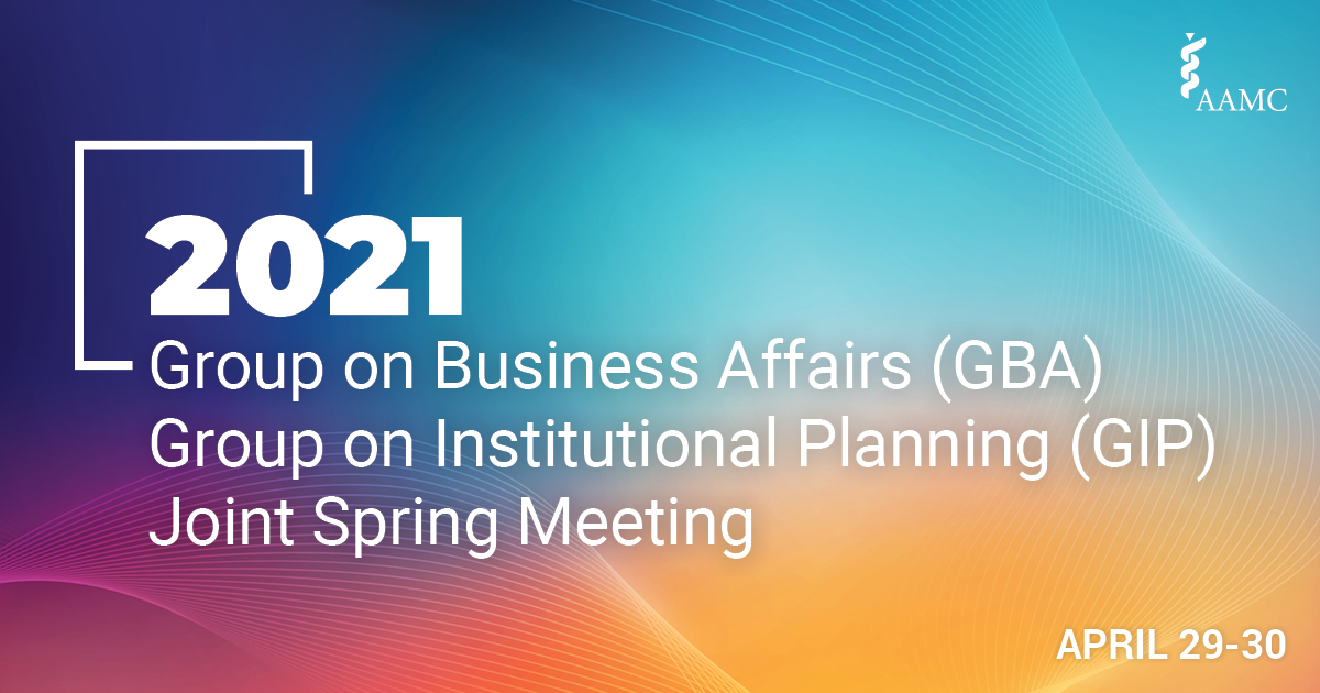 GBA/GIP 2021 Joint Spring Meeting: April 29-30