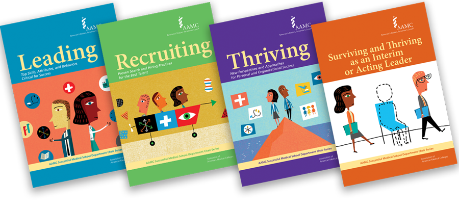 Publication covers for Leading, Recruiting, and Surviving and Thriving as an Interim or Acting Leader.