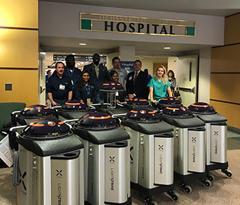 UV robots at Ochsner Health System