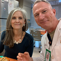 Stewart McCarver, MD, emergency medicine physician at Penn State Health Milton S. Hershey Medical Center in Hershey, Pennsylvania, and his wife enjoyed Thanksgiving dinner together in the emergency department several years ago.