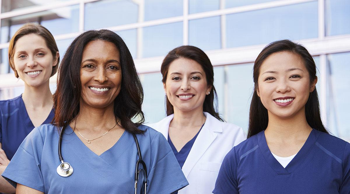 Group of diverse women in medicine