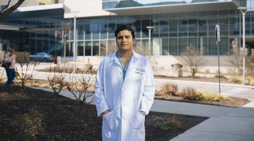 Manuel Bernal, MD, a second-year medical resident at Advocate Christ Medical Center, has treated COVID-19 patients while awaiting the Supreme Court ruling on the Deferred Action for Childhood Arrivals program that allows him to work as a physician