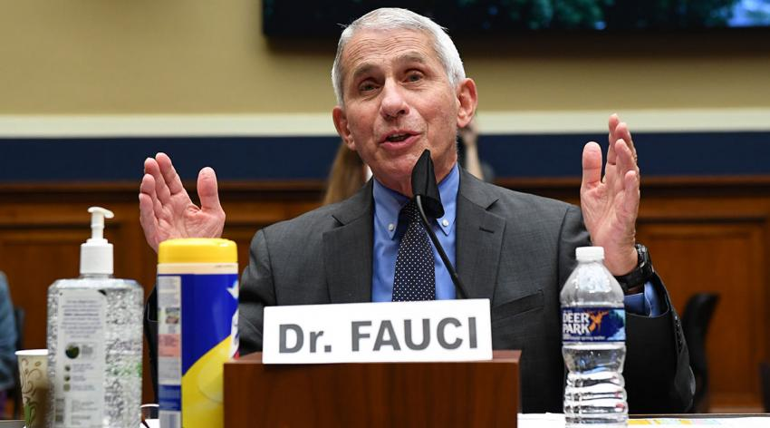 Anthony Fauci, MD, director of the National Institute of Allergy and Infectious Diseases, testifies at a hearing of the U.S. House Committee on Energy and Commerce on Capitol Hill on June 23, 2020, in Washington, D.C.