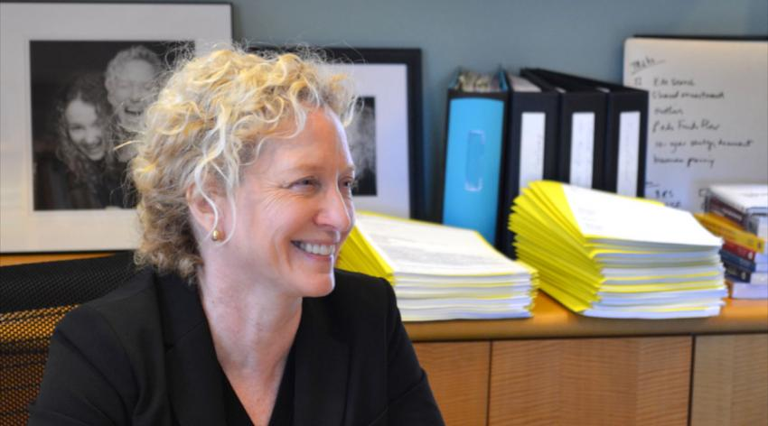 Laura Roberts, MD, in her office