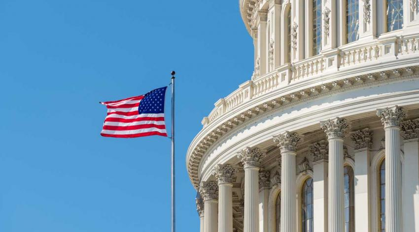capitol and flag