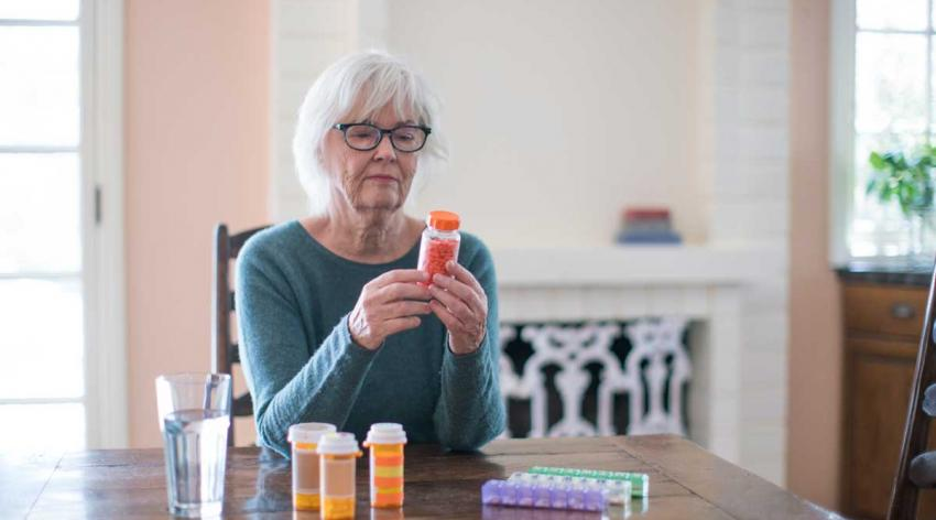 woman with medication