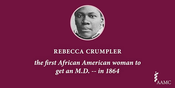 Rebecca Crumpler, the first African American woman to get an M.D. in 1864